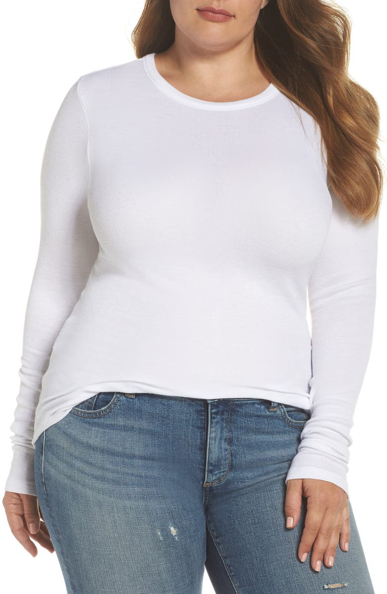 Come discover these Over 50 Fashion: Running Errands Comfy Cute Pieces! Ribbed Long Sleeve Tee, Alternate, color, WHITE. #fashionover50