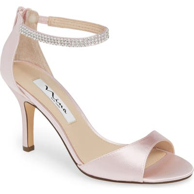 Nina Volanda Ankle Strap Sandal- Pink