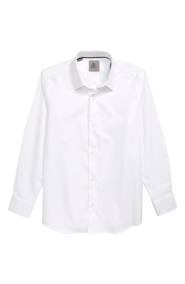 JB JR. JB Jr Textured Dress Shirt, Main, color, WHITE