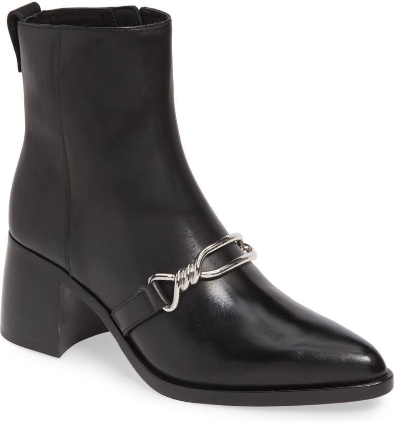 ALLSAINTS Rhye Block Heel Bootie, Main, color, BLACK