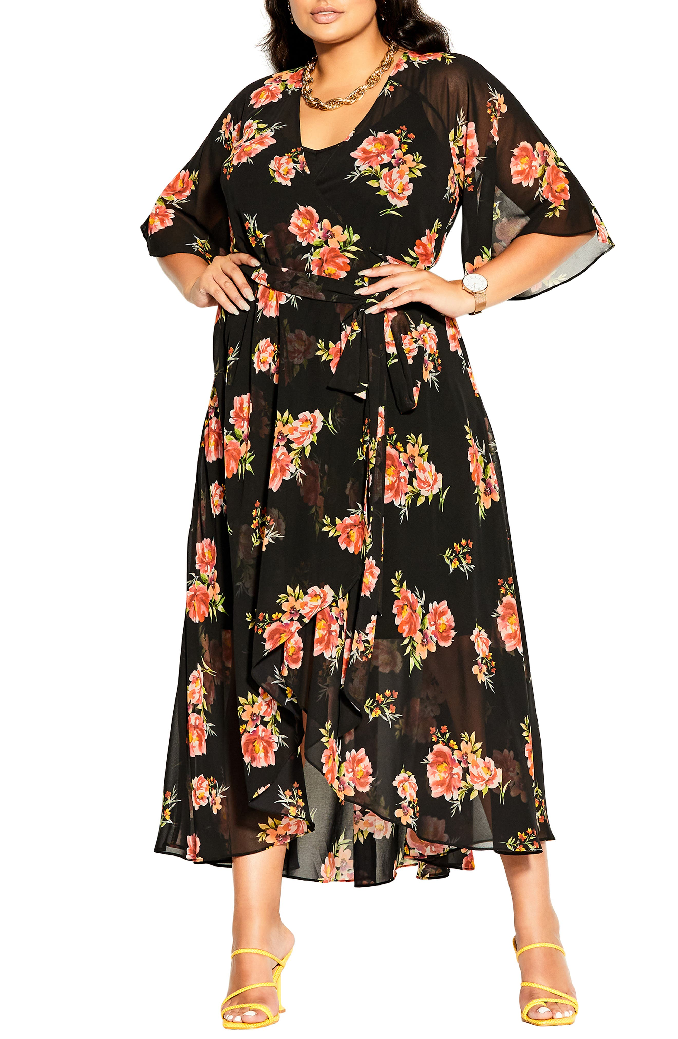 Petal Power Floral Wrap Dress