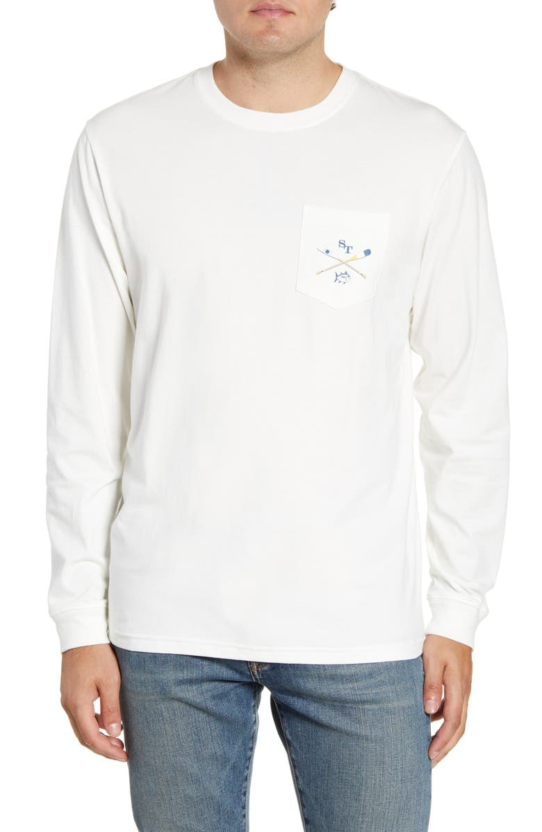 SOUTHERN TIDE Oars Classic Fit Graphic Long Sleeve T-Shirt, Main, color, COCONUT