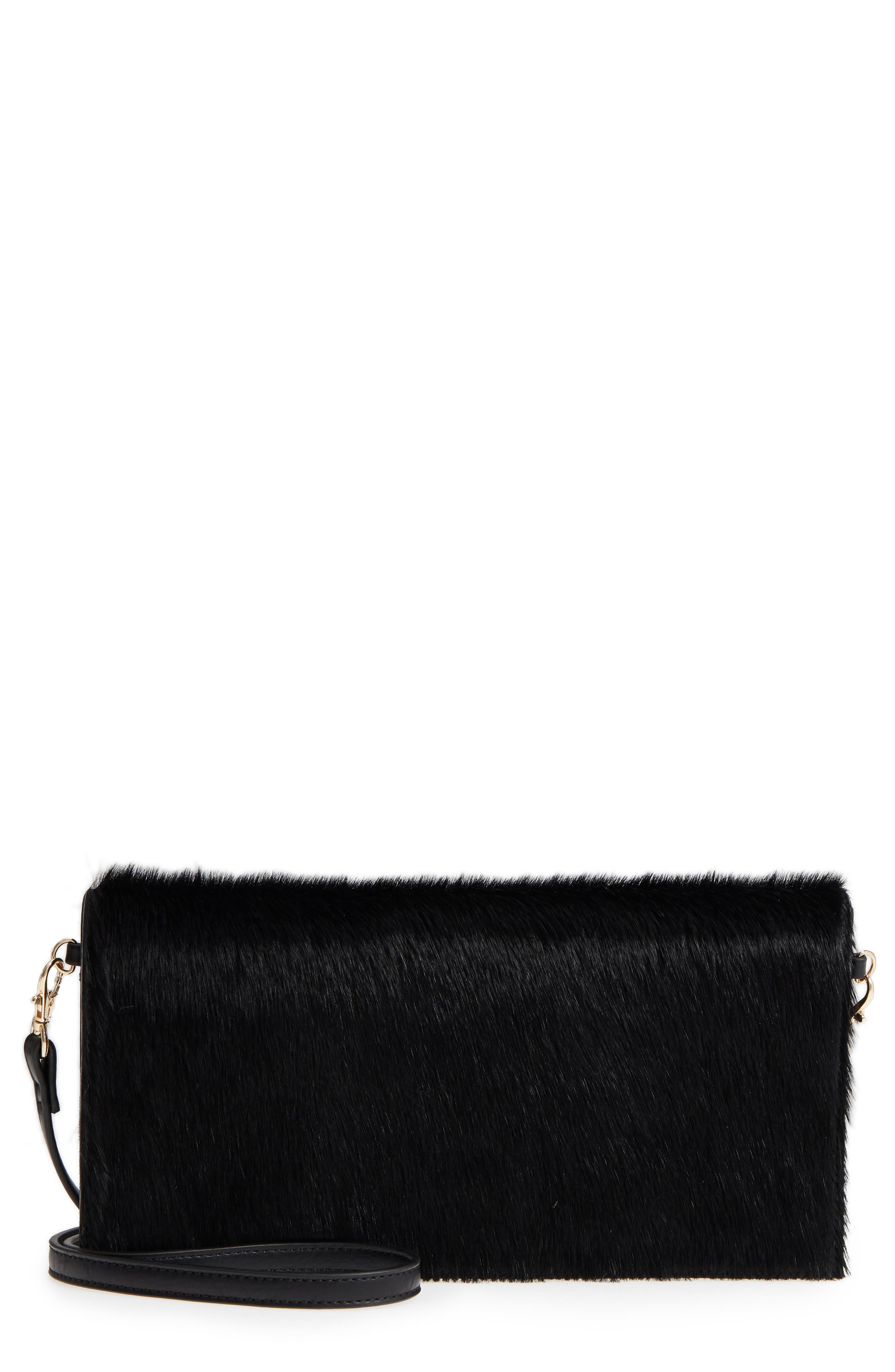 Image of Sole Society Tesso Genuine Calf Hair Clutch