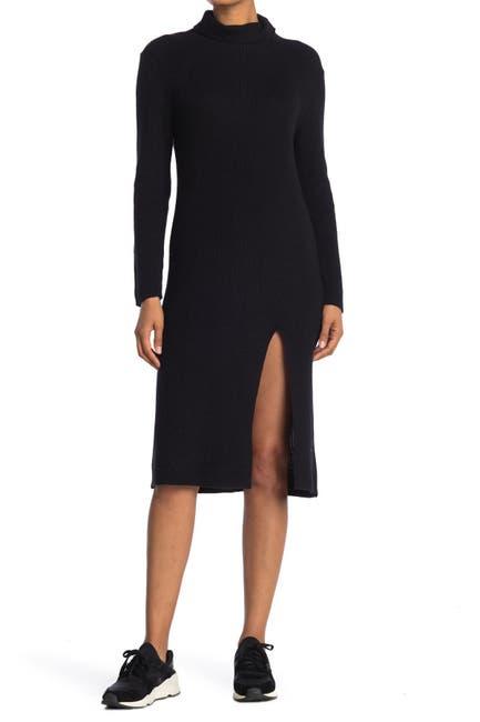 Image of Abound Ribbed Mock Neck Midi Dress