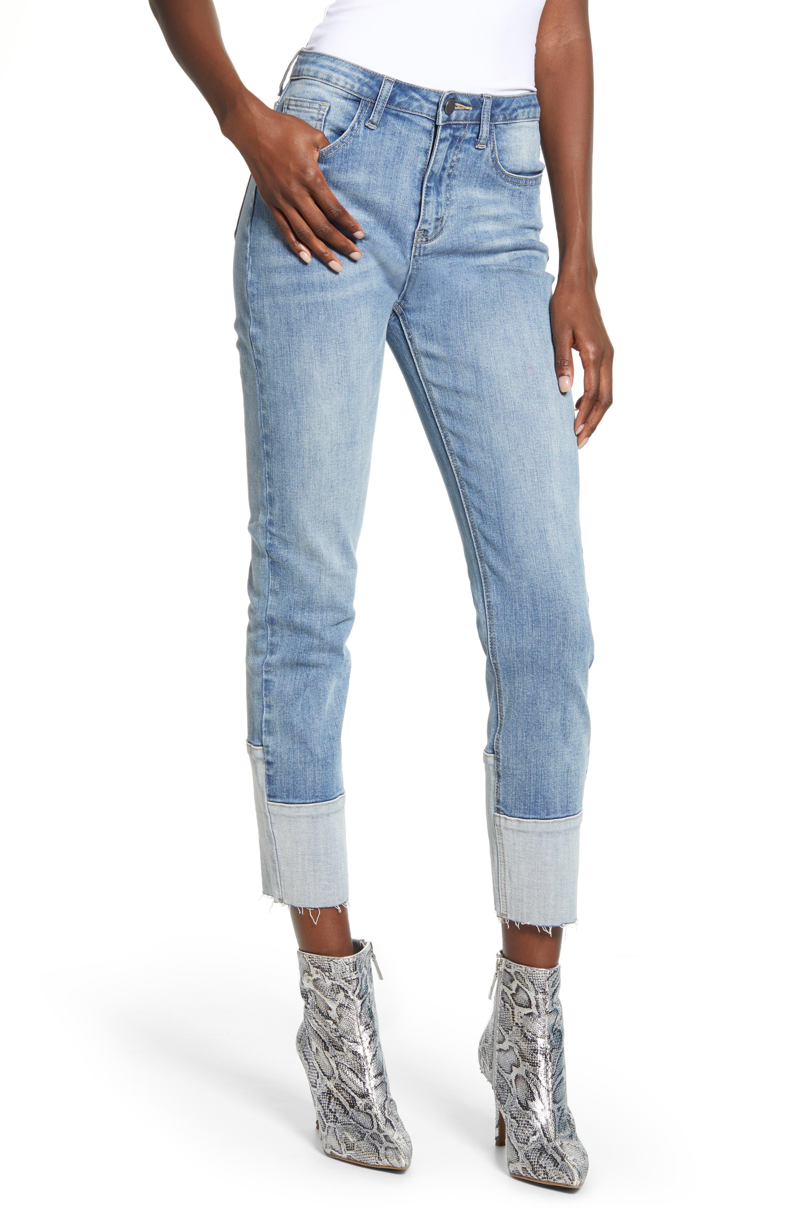 Raw Hem Crop Skinny Jeans