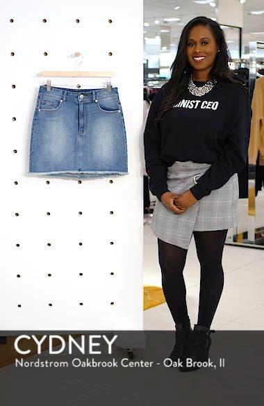 Raw Hem Denim Miniskirt, sales video thumbnail