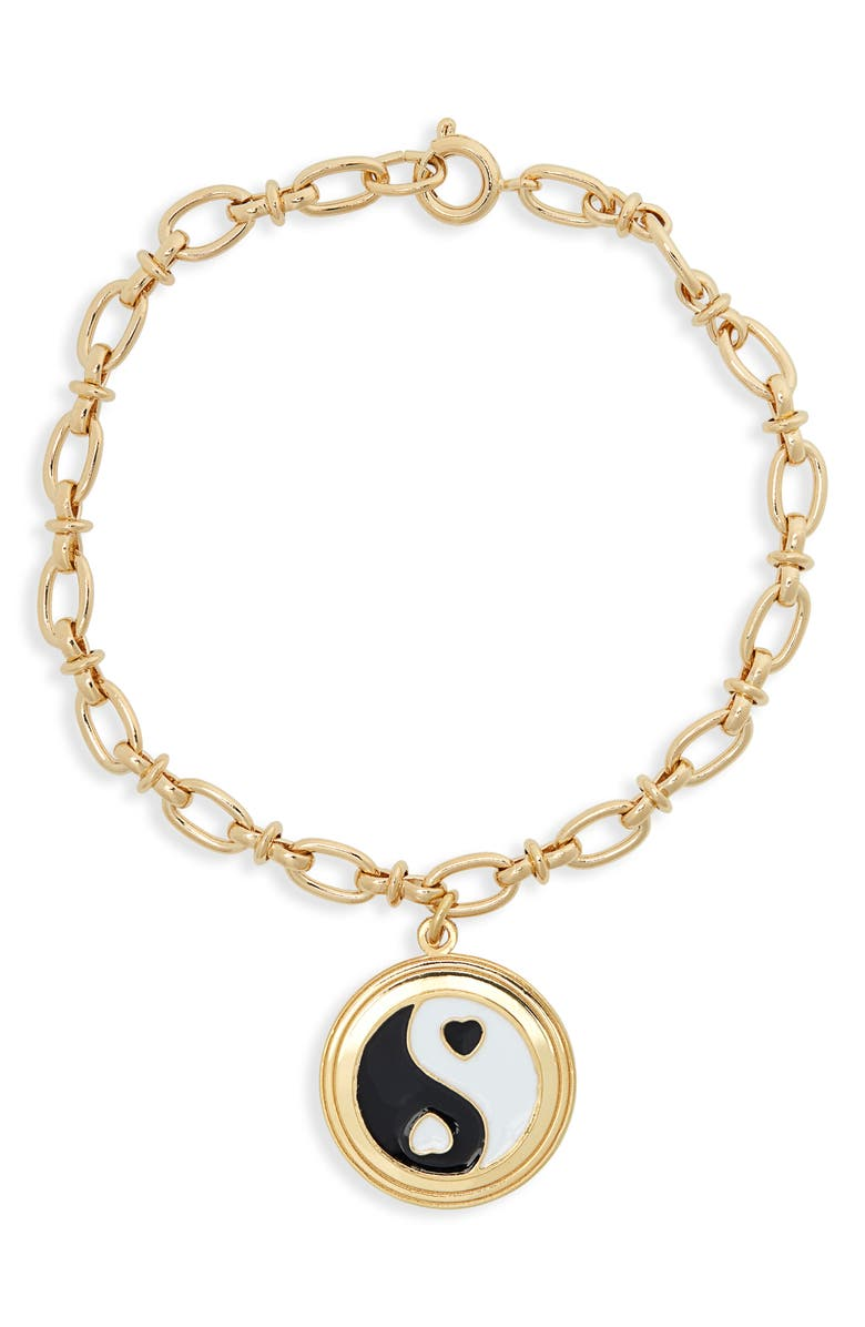 WILHELMINA GARCIA Yin Yang Bracelet, Main, color, BLACK/ GOLD