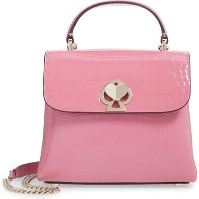 Kate Spade New York Romy Croc-Embossed Leather Top Handle Bag - Pink