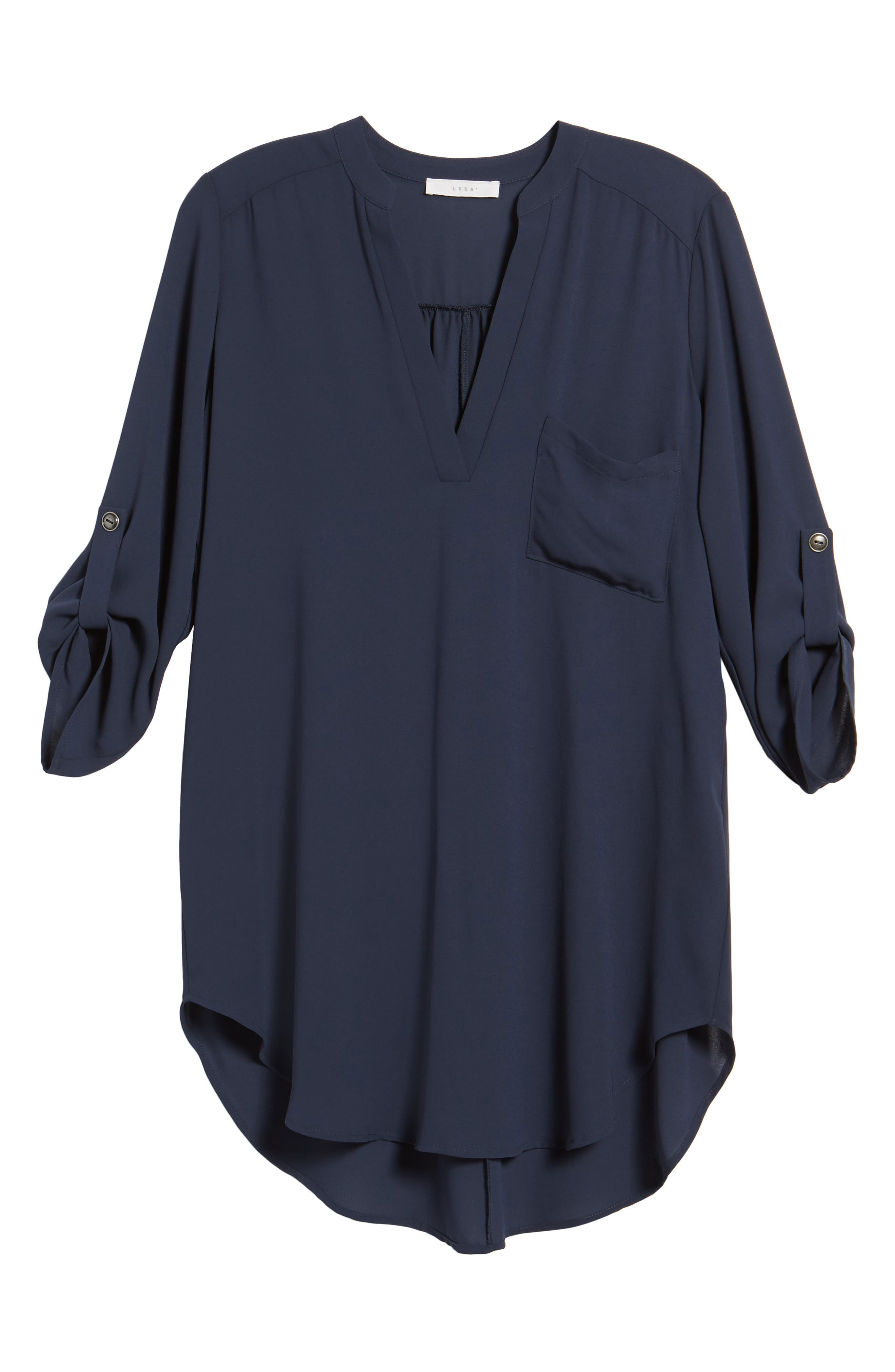 ,                             Perfect Roll Tab Sleeve Tunic,                             Alternate thumbnail 91, color,                             421