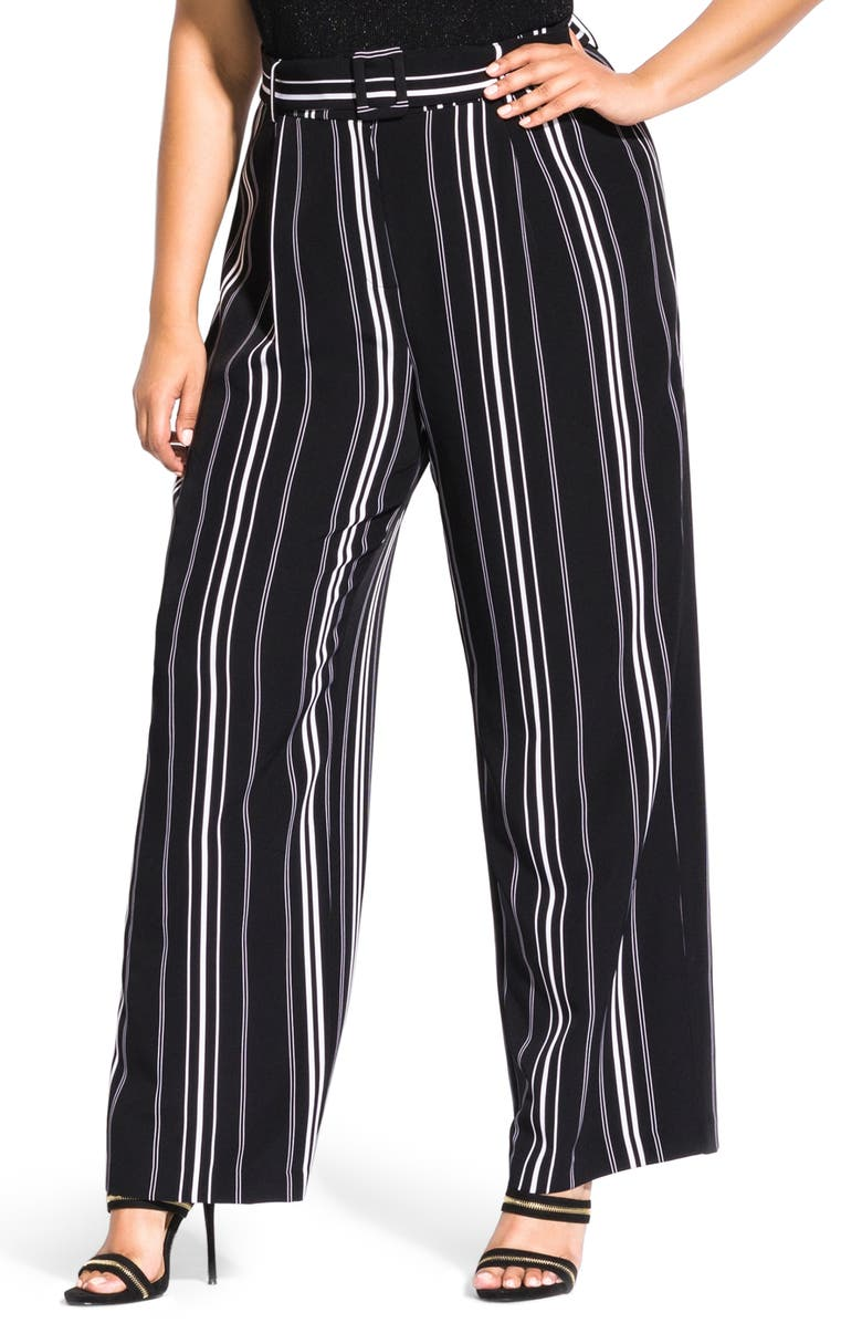 select for original uk cheap sale best sale City Chic Belted Stripe Palazzo Pants (Plus Size) | Nordstrom