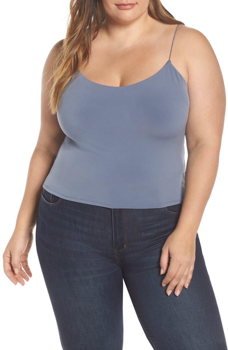 LEITH Sexy Camisole, Main, color, GREY GRISAILLE