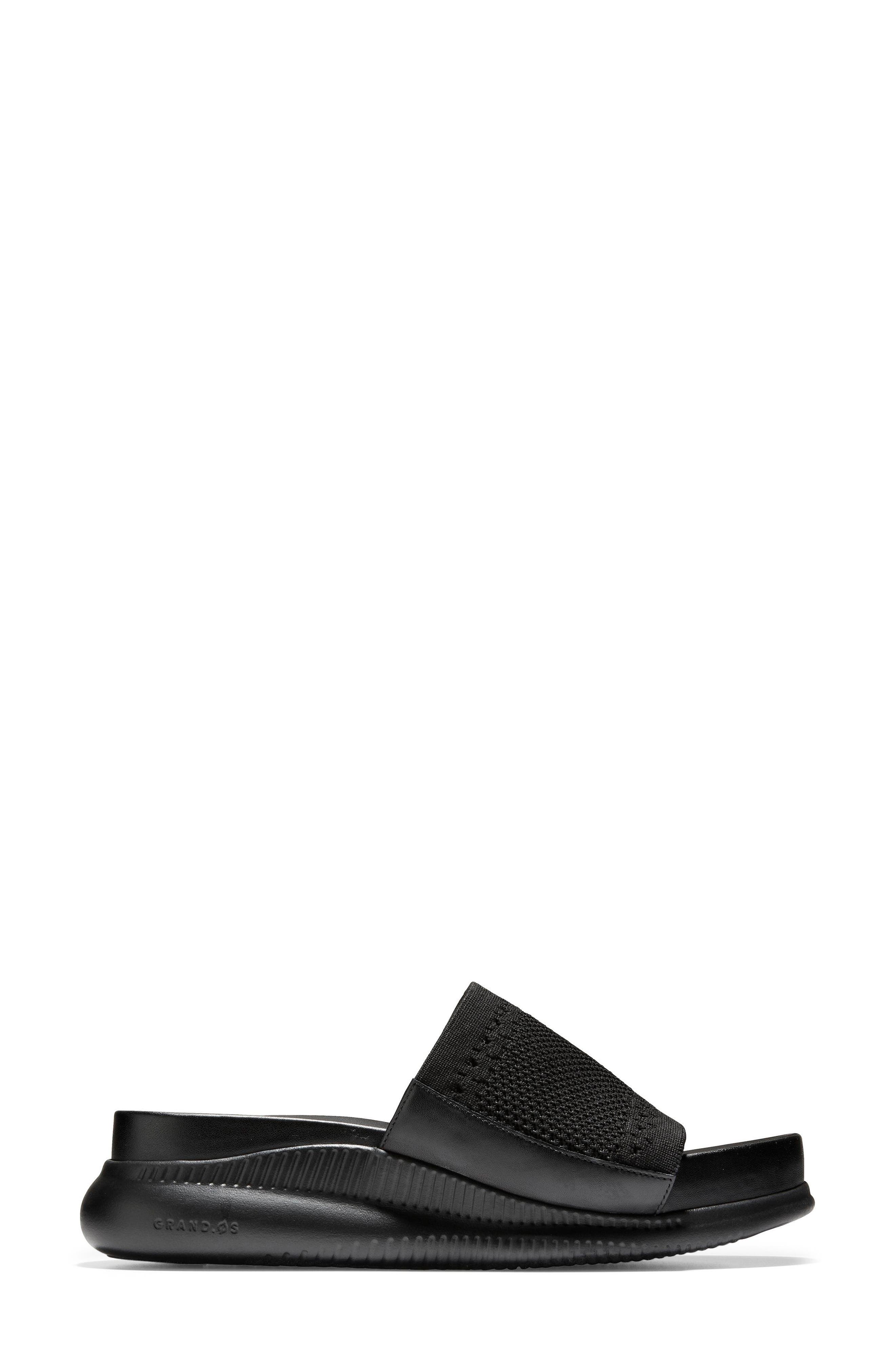 ,                             2.Zerogrand Stitchlite<sup>™</sup> Slide Sandal,                             Alternate thumbnail 3, color,                             BLACK LEATHER