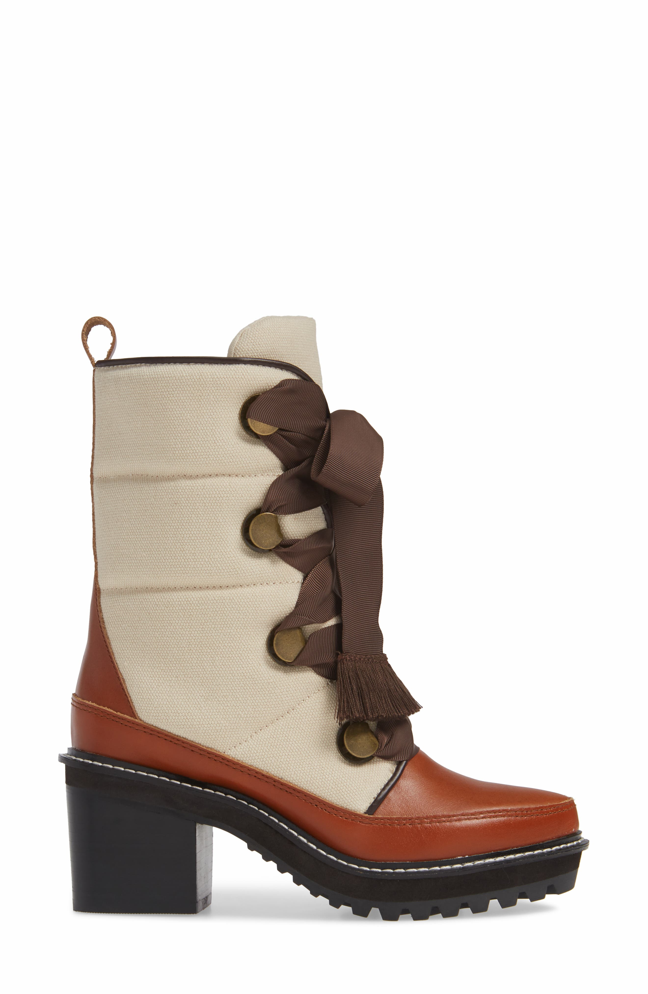 ,                             Puffin Lug Sole Boot,                             Alternate thumbnail 3, color,                             NATURAL