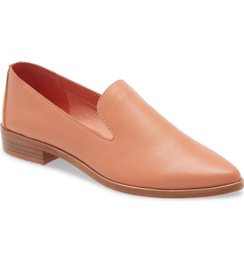 TREASURE & BOND Kena Loafer, Main, color, CORAL LEATHER