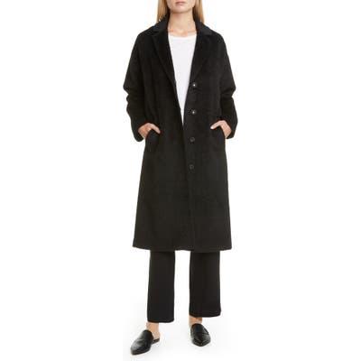 Eileen Fisher Wool & Alpaca Blend Long Coat, Black