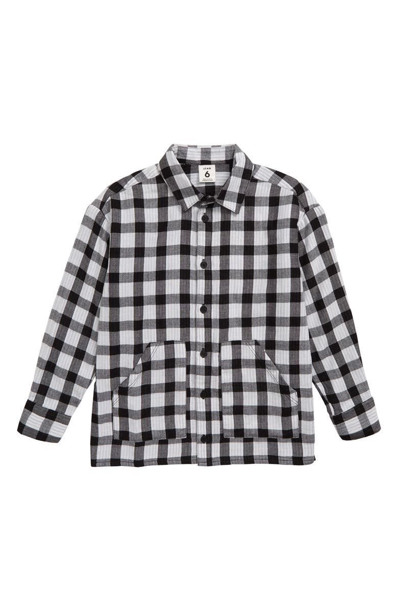STEM Check Shirt, Main, color, BLACK-WHITE CHECK
