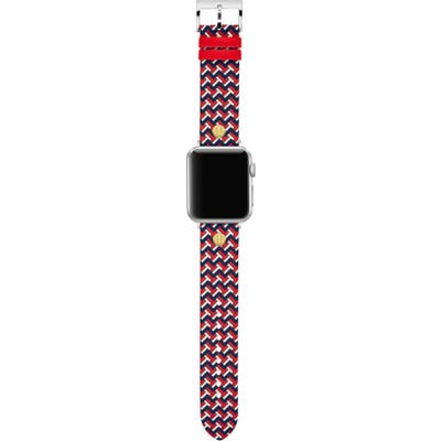 Tory Burch T-Zag Leather Apple Watch Strap