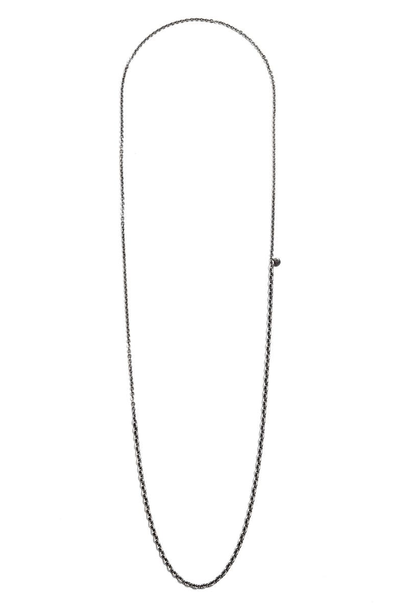 TITLE OF WORK Small/Medium Cable Necklace, Main, color, SILVER