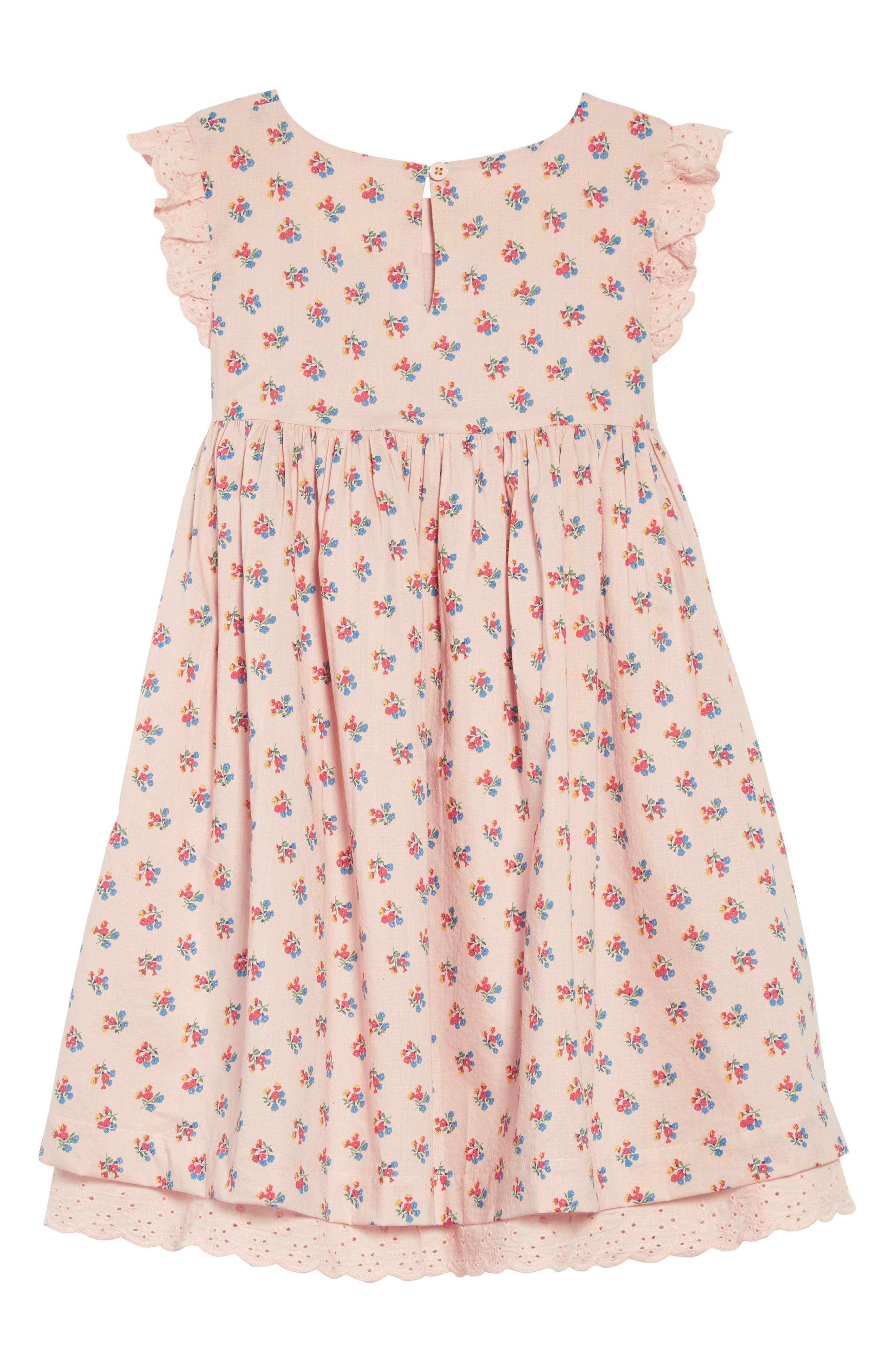 ,                             Nostalgic Smocked Dress,                             Alternate thumbnail 2, color,                             PNK PINK VINTAGE POSY