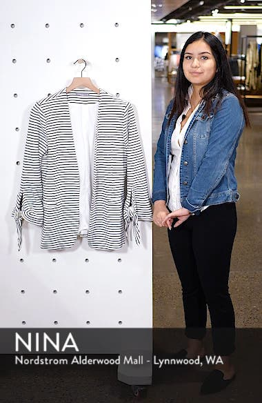 Tie Sleeve Knit Blazer, sales video thumbnail