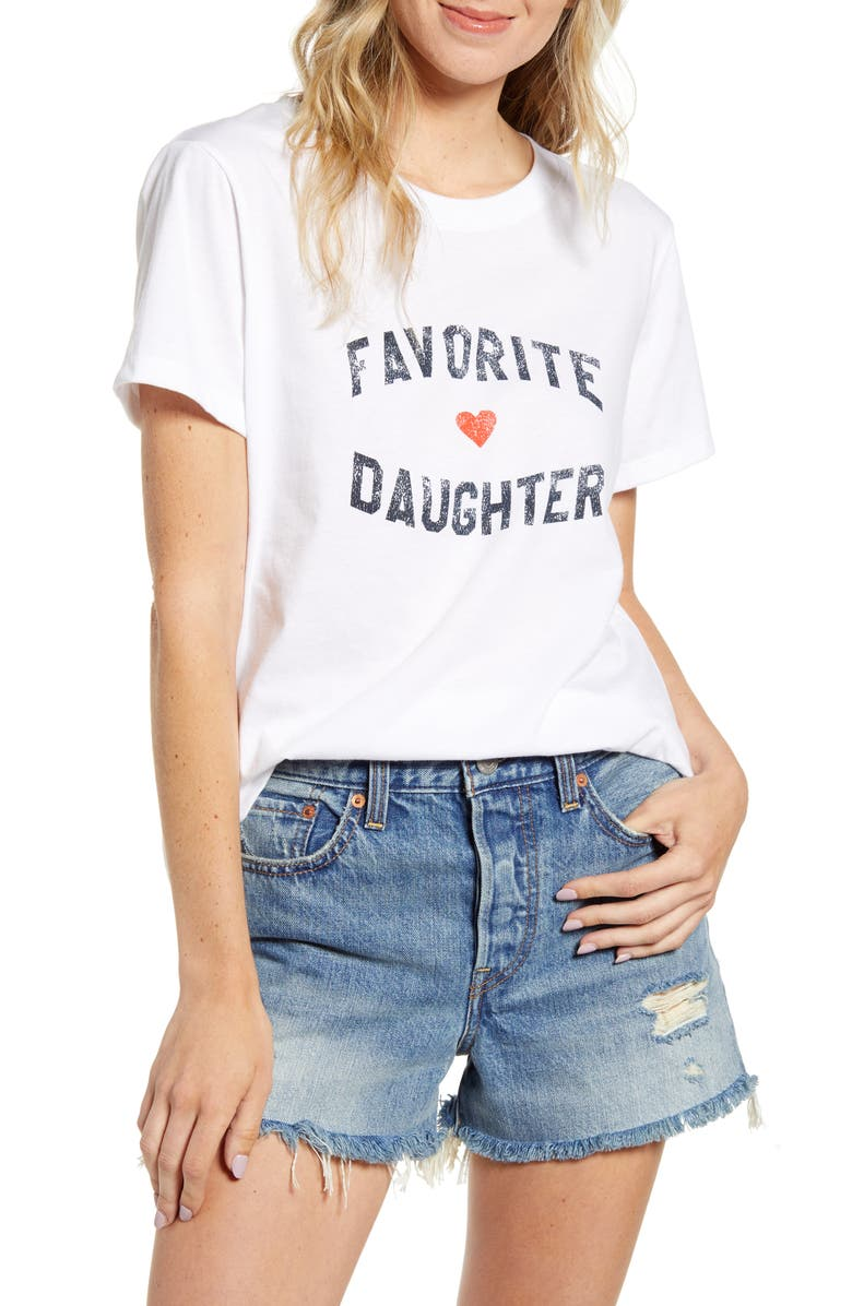 SUB_URBAN RIOT Favorite Daughter Graphic Tee, Main, color, WHITE