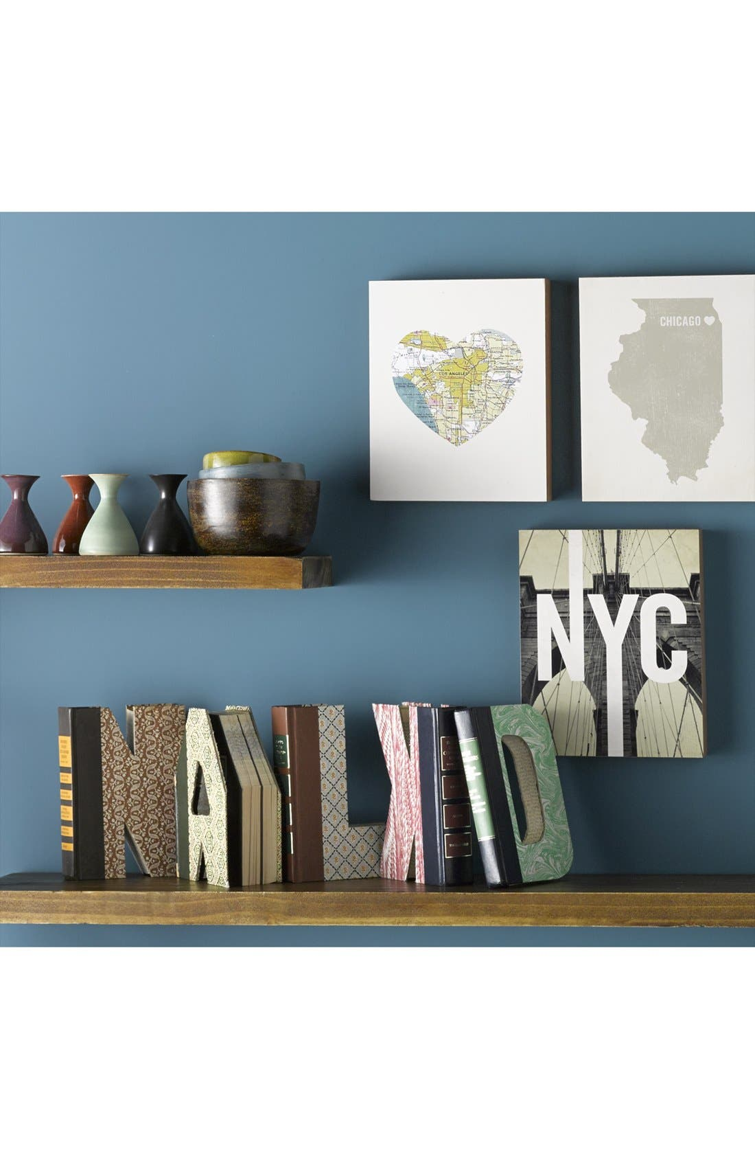 ,                             'One of a Kind Letter' Hand-Carved Recycled Book Shelf Art,                             Alternate thumbnail 4, color,                             200