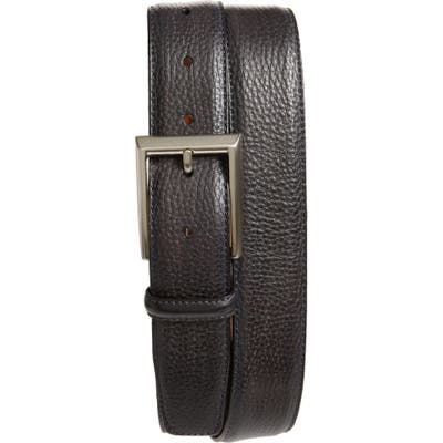 Magnanni Rocas Leather Belt, Grey