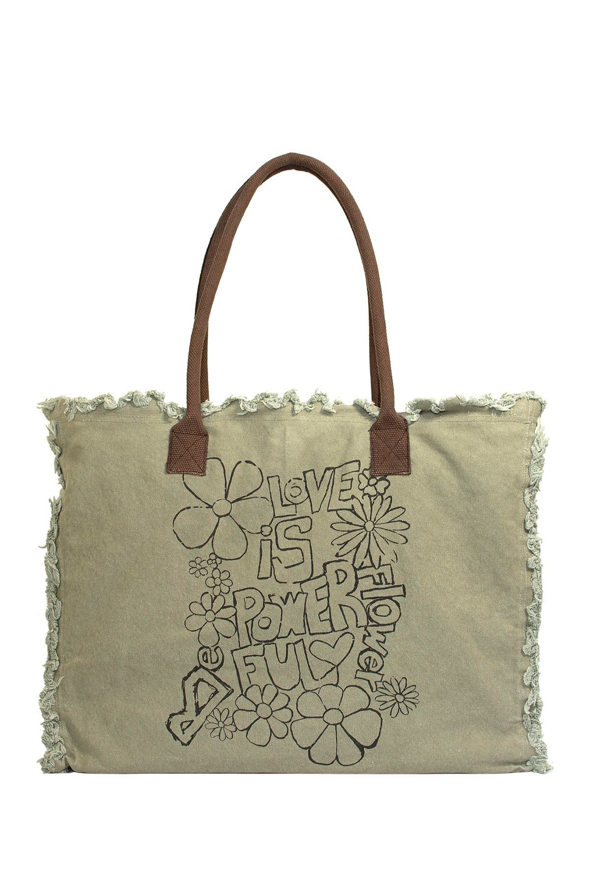 Image of Vintage Addiction Love Is Powerful Market Tote