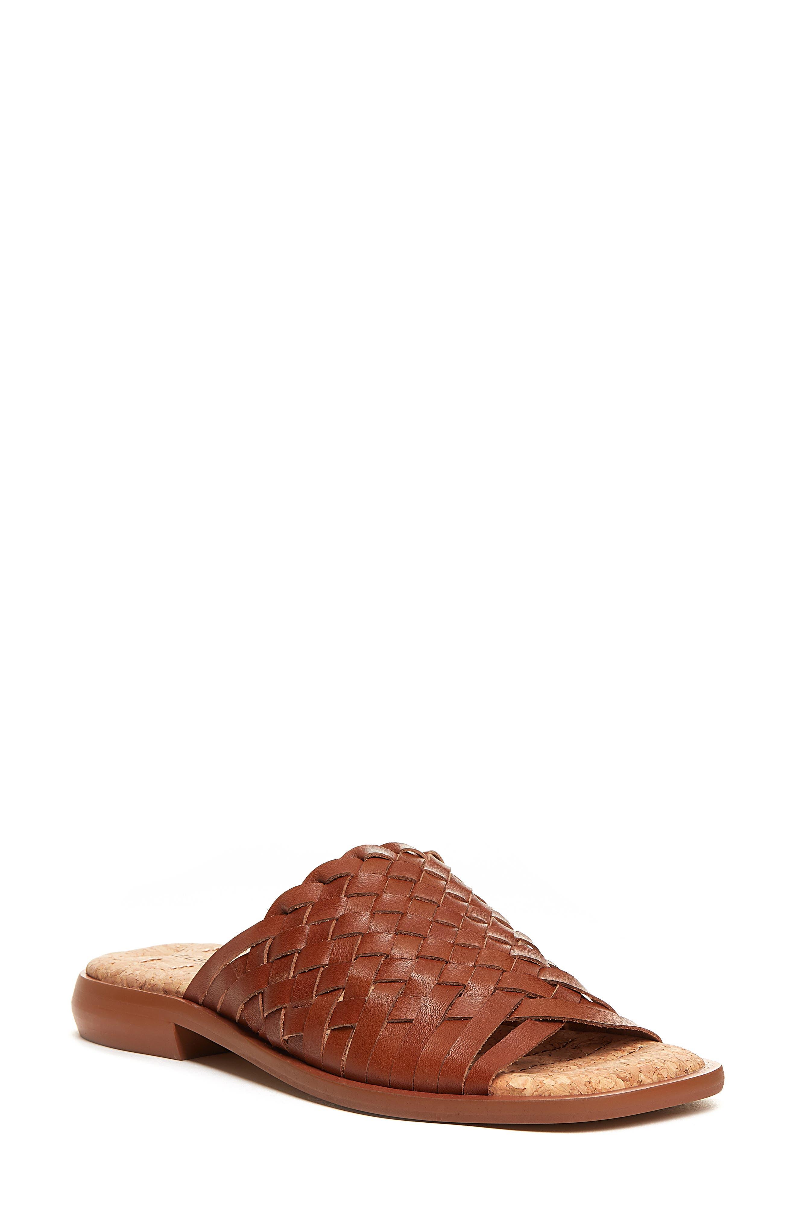 Tide Woven Leather Slide Sandal