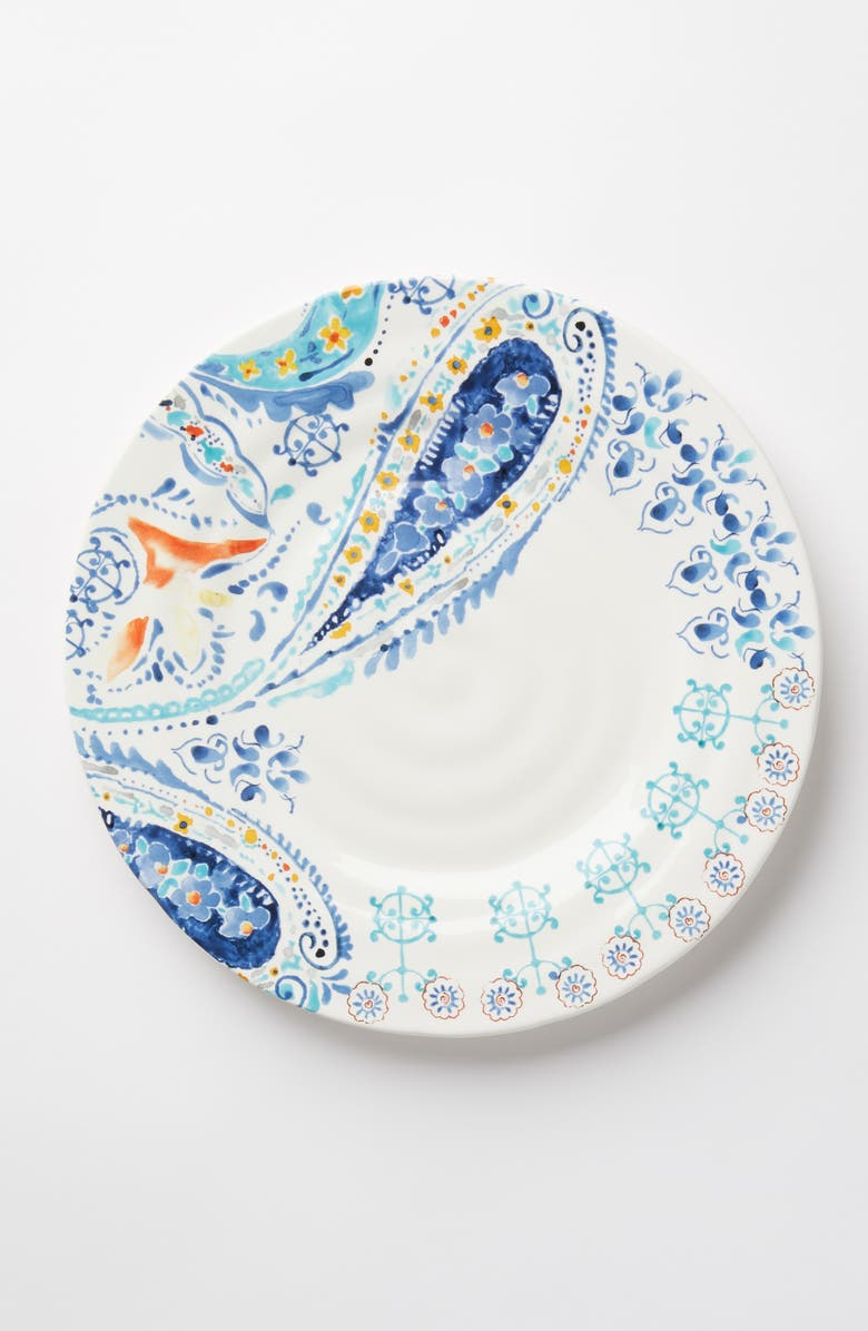 House Of Mirrors Earthenware Dinner Plate by Anthropologie