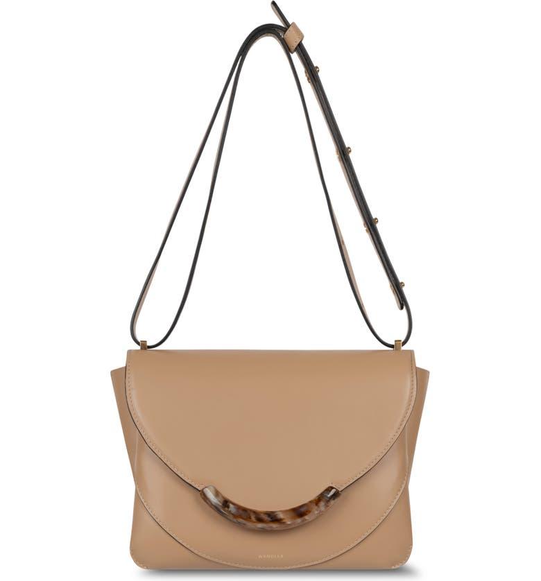 WANDLER Luna Arch Leather Shoulder Bag, Main, color, BUTTERCREAM