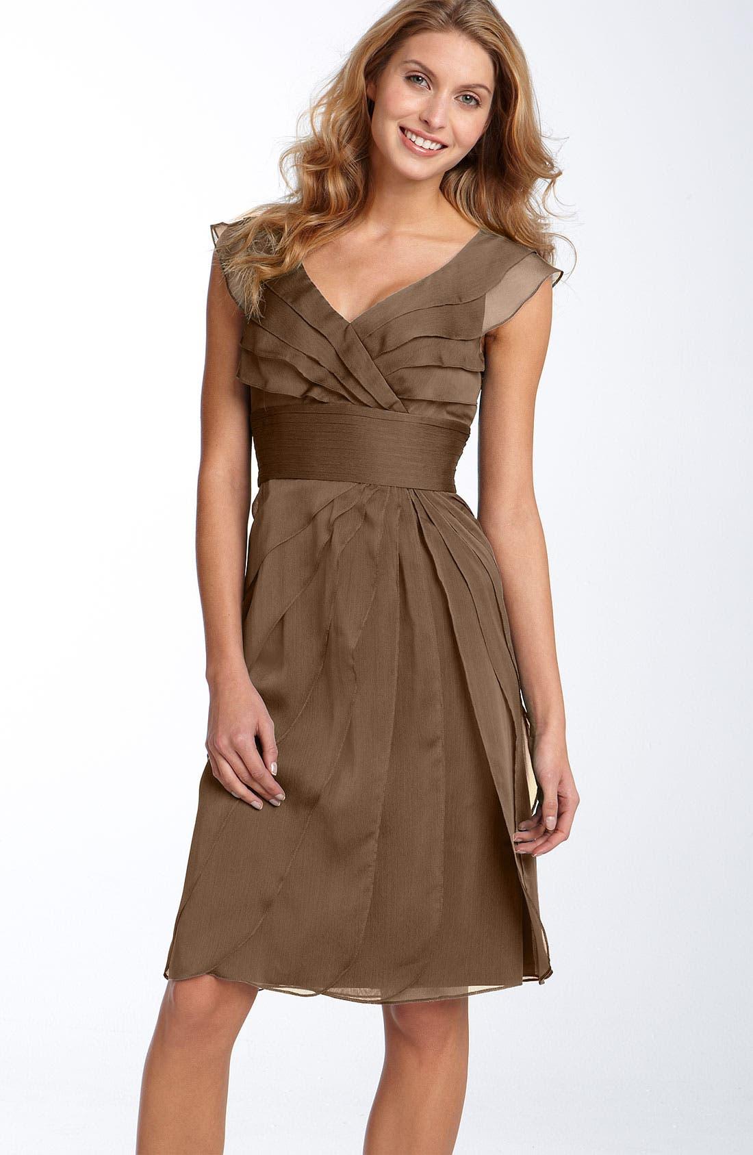 ,                             Tiered Chiffon Dress,                             Main thumbnail 4, color,                             200