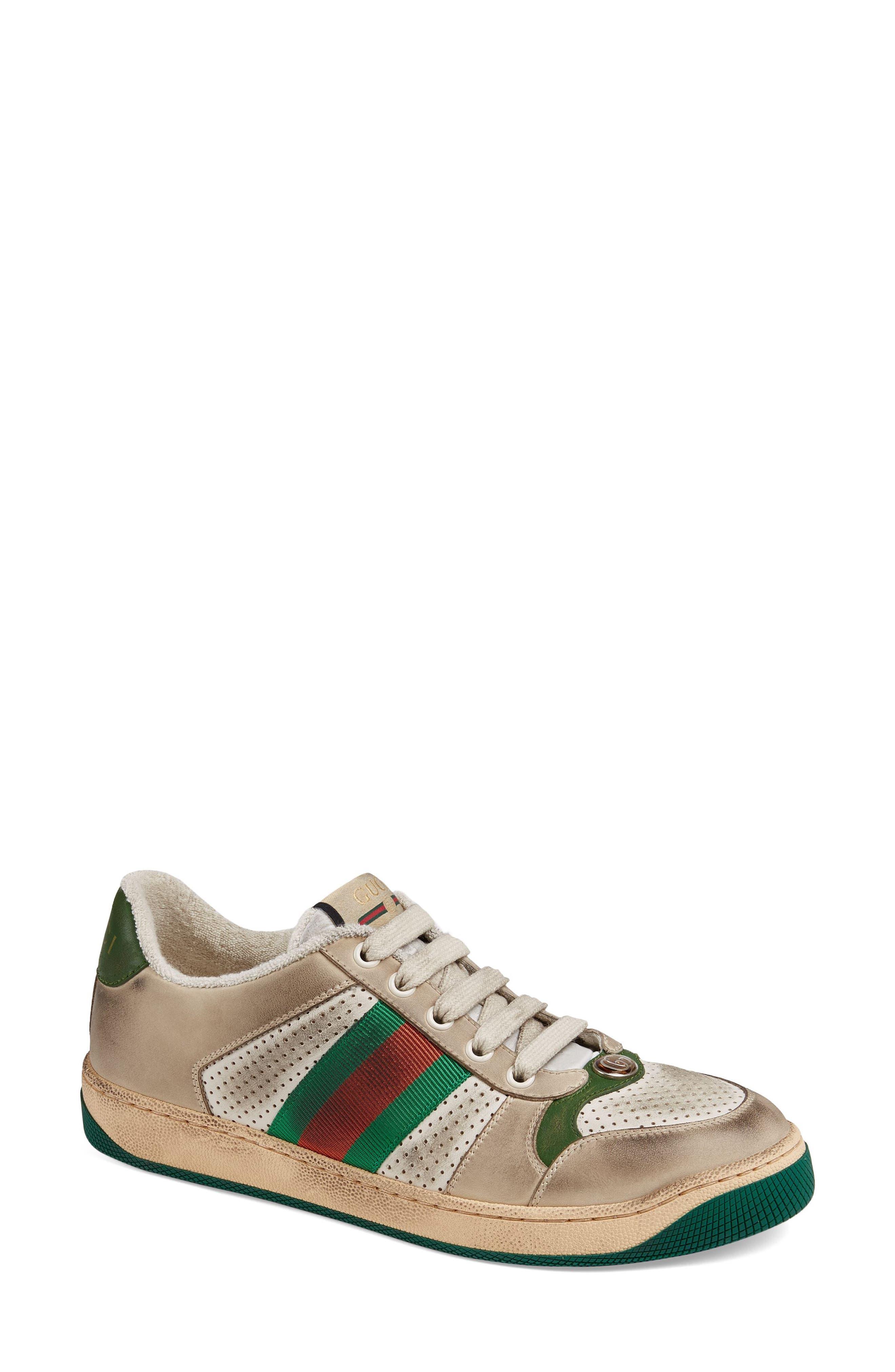 Gucci Screener Low Top Sneaker, Beige