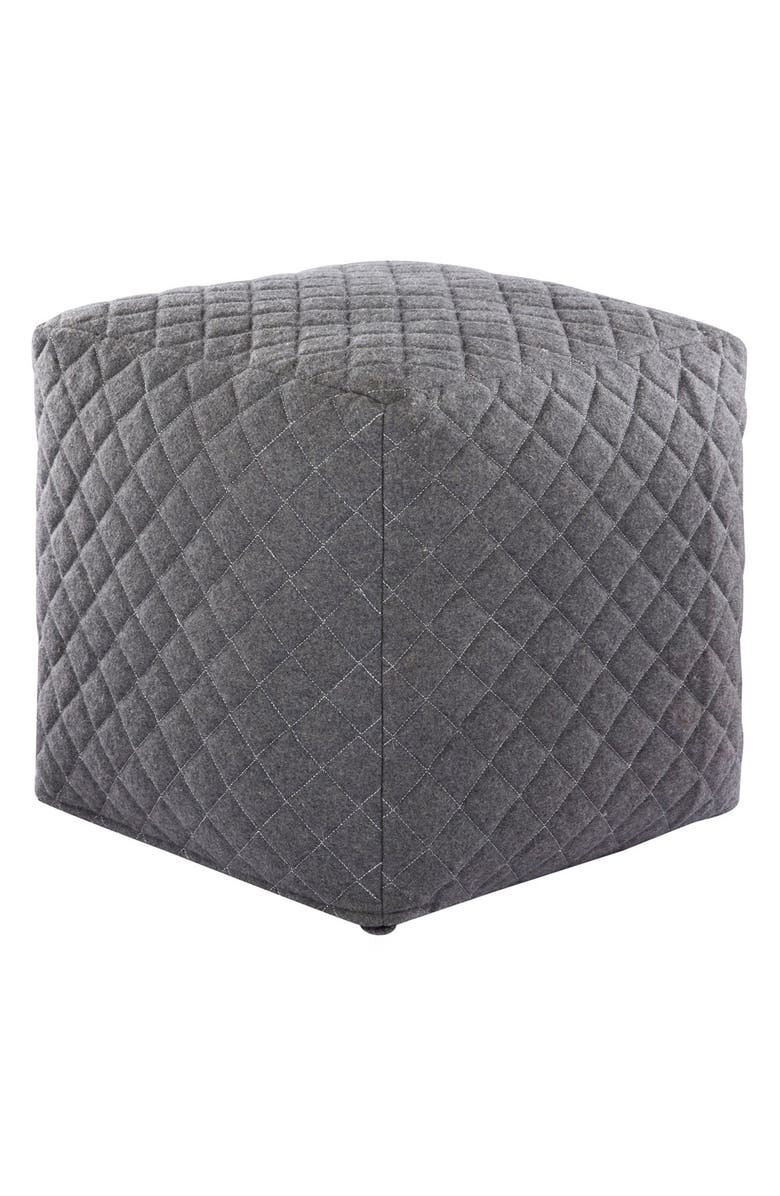 JAIPUR 'Nikki Chu Ultra' Pouf, Main, color, GREY
