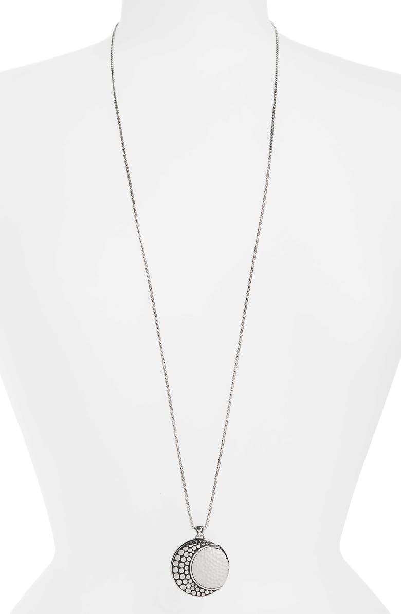 John Hardy Hammered Dot Pendant Necklace