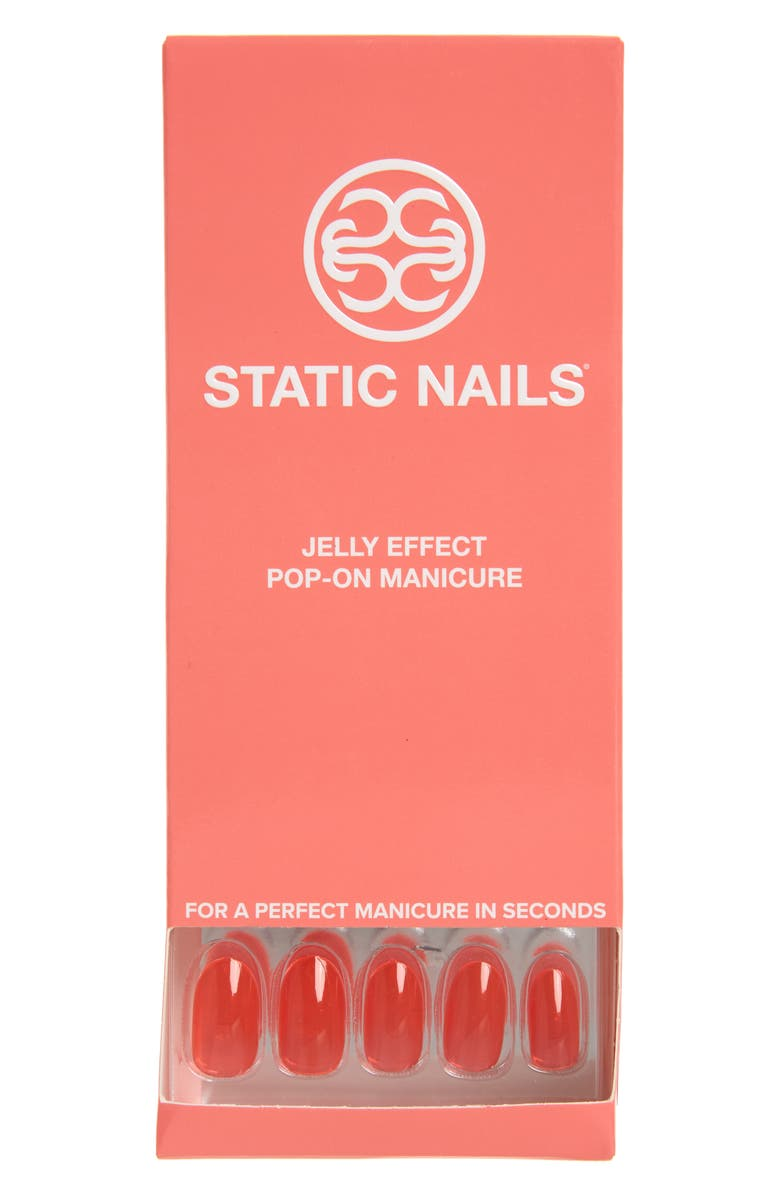 STATIC NAILS Sun Babe Pop-On Reusable Manicure Set, Main, color, SUN BABE ROUND