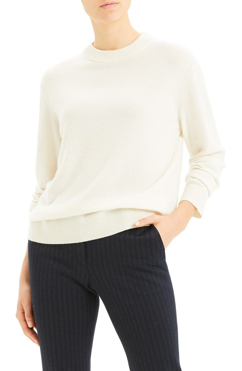 THEORY Crewneck Cashmere Sweater, Main, color, 900