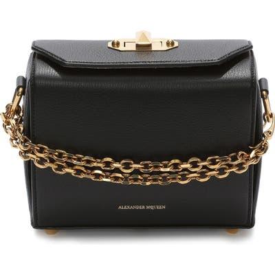 Alexander Mcqueen Medium Calfskin Leather Box Bag - Black