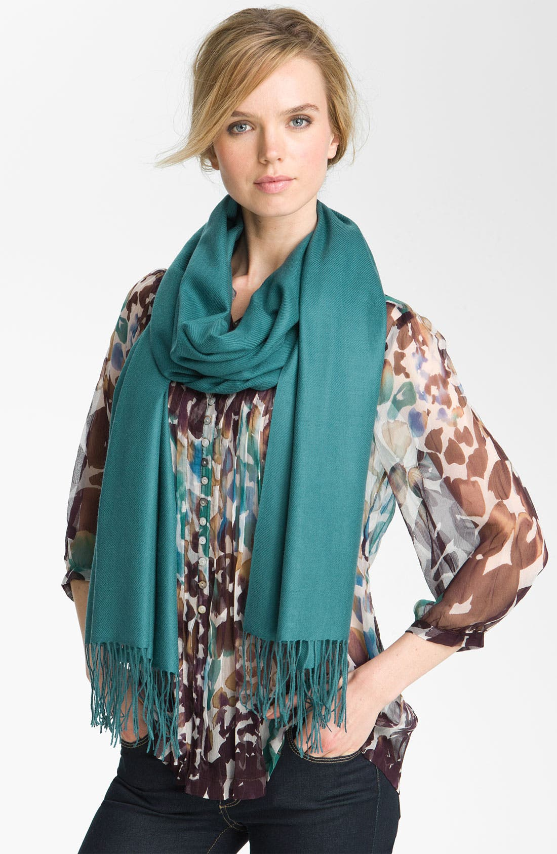 ,                             Tissue Weight Wool & Cashmere Wrap,                             Main thumbnail 89, color,                             443