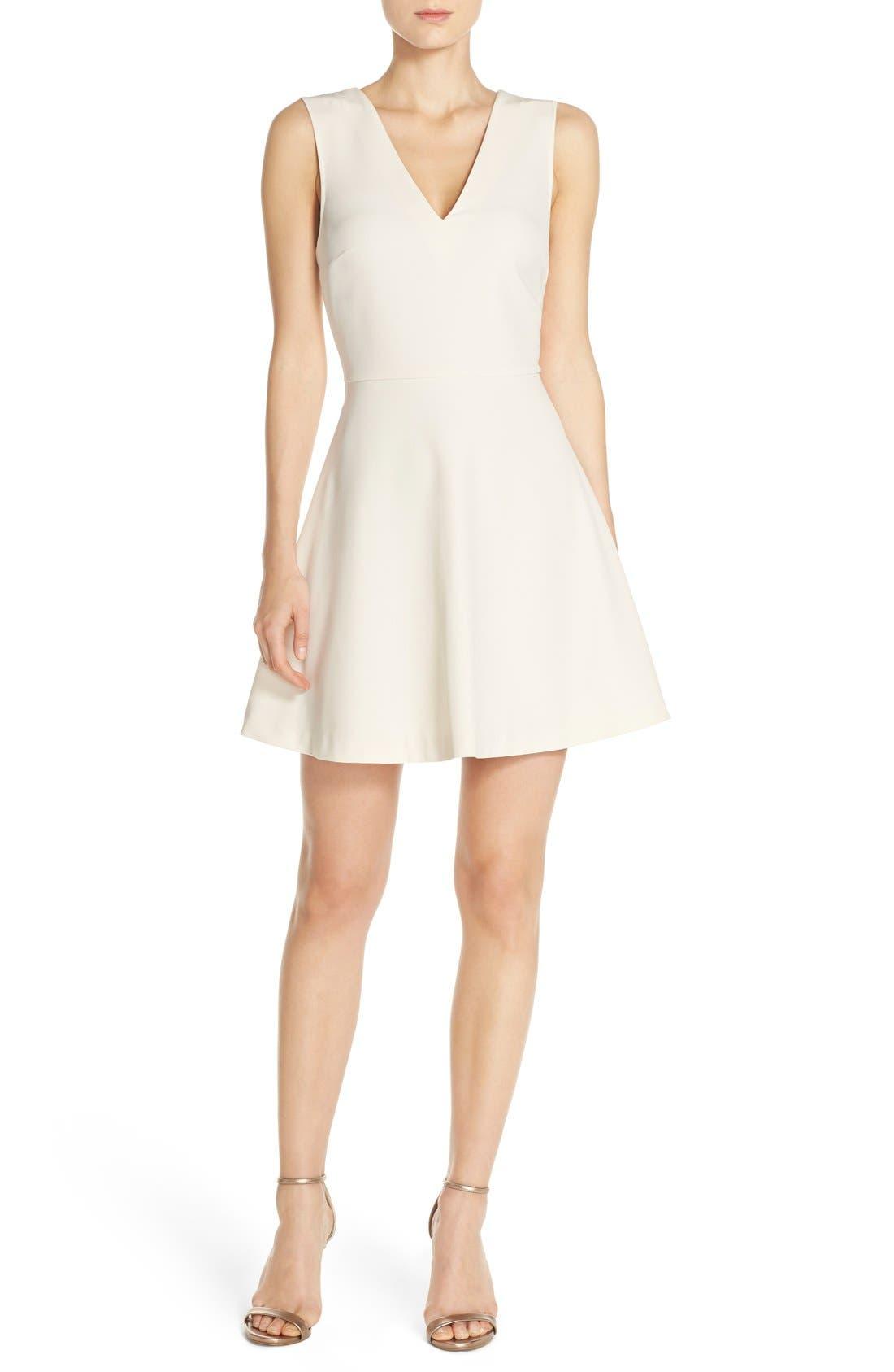,                             Bianca Back Cutout Fit & Flare Dress,                             Alternate thumbnail 83, color,                             907