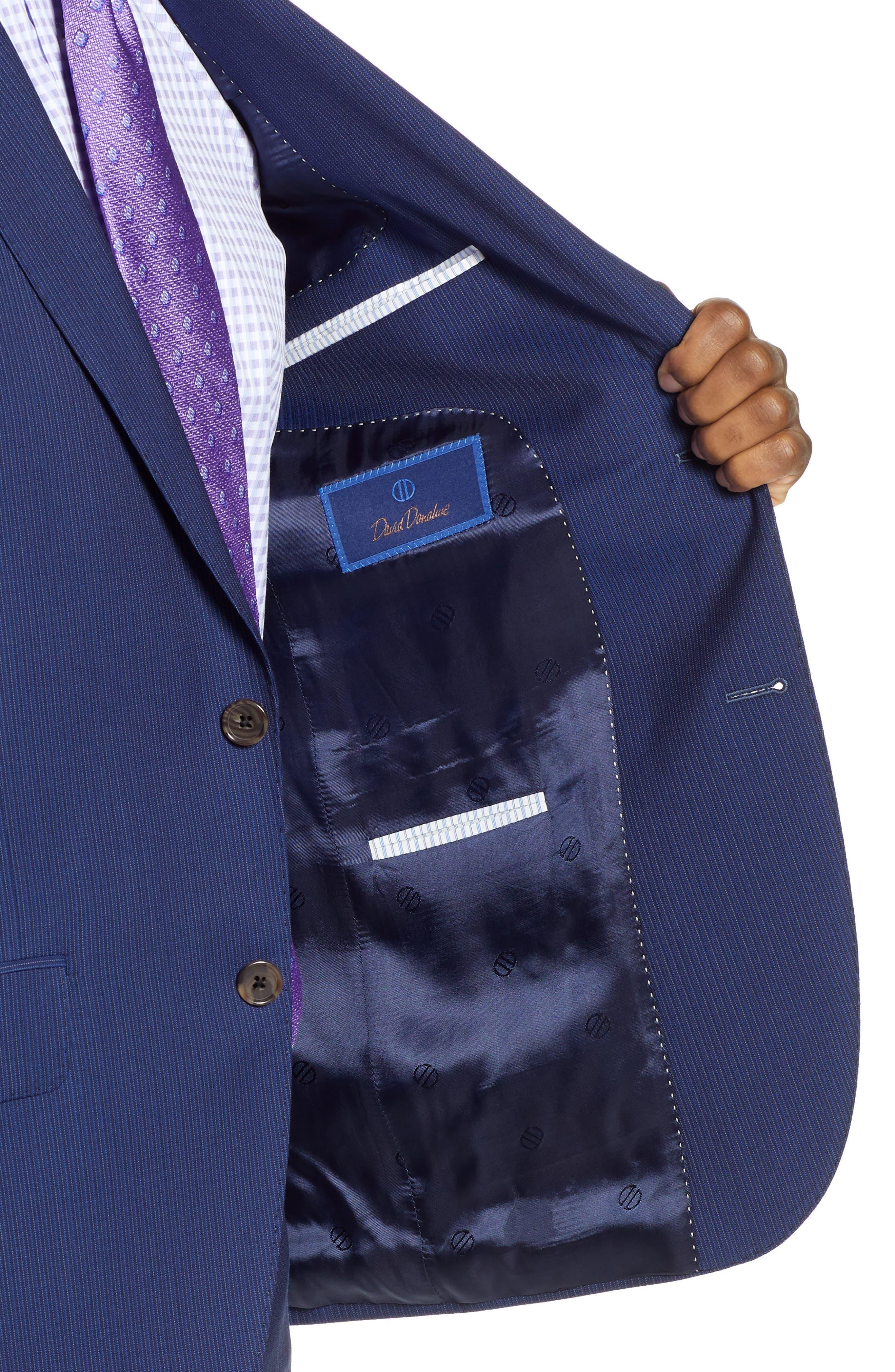 ,                             Ryan Classic Fit Stripe Wool Suit,                             Alternate thumbnail 4, color,                             410