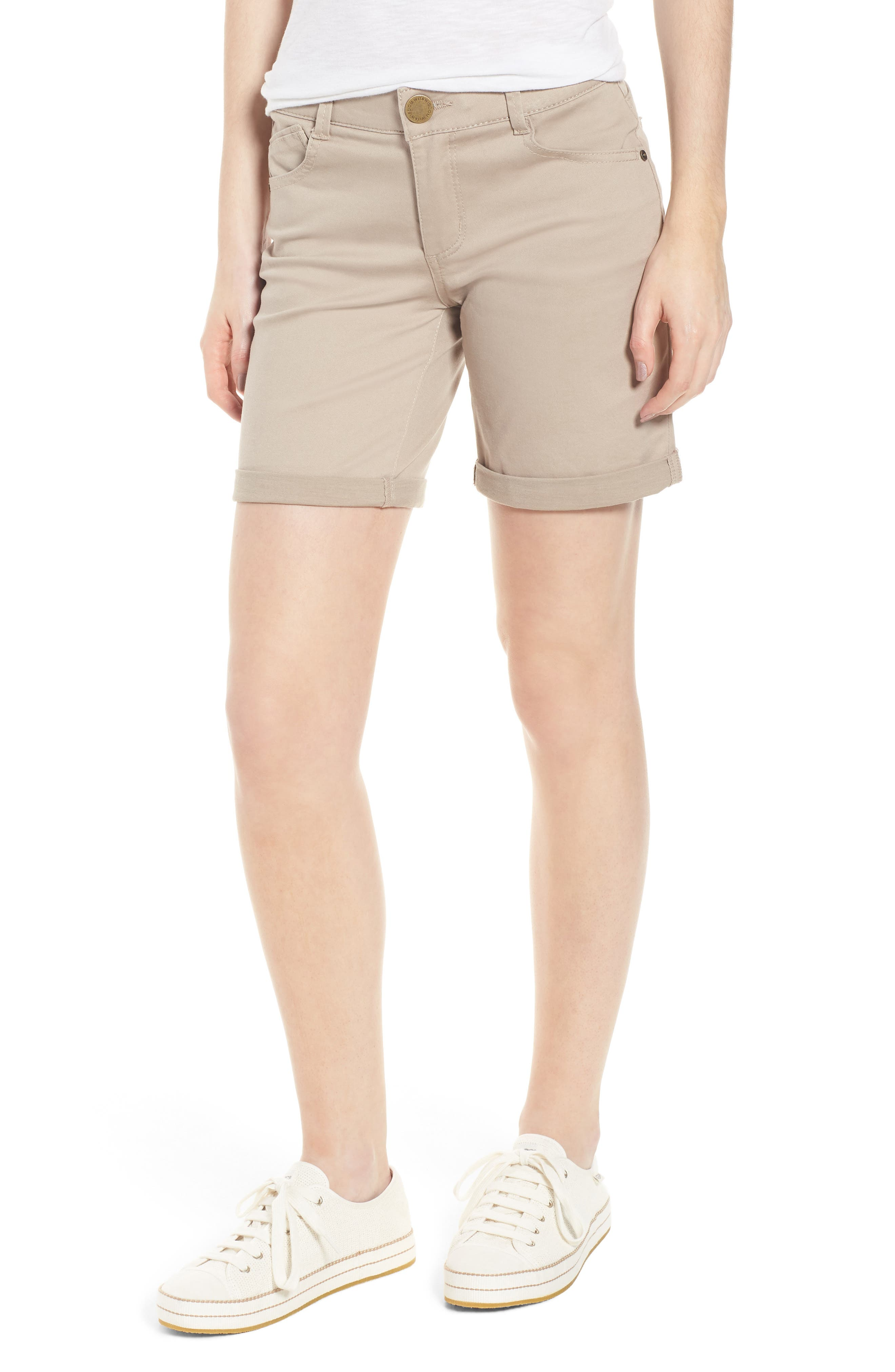 Women's Wit & Wisdom Ab-Solution Stretch Twill Shorts,  - (Nordstrom Exclusive)