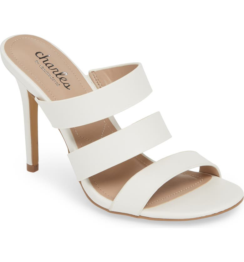 CHARLES BY CHARLES DAVID Rivalary Slide Sandal, Main, color, WHITE FAUX LEATHER