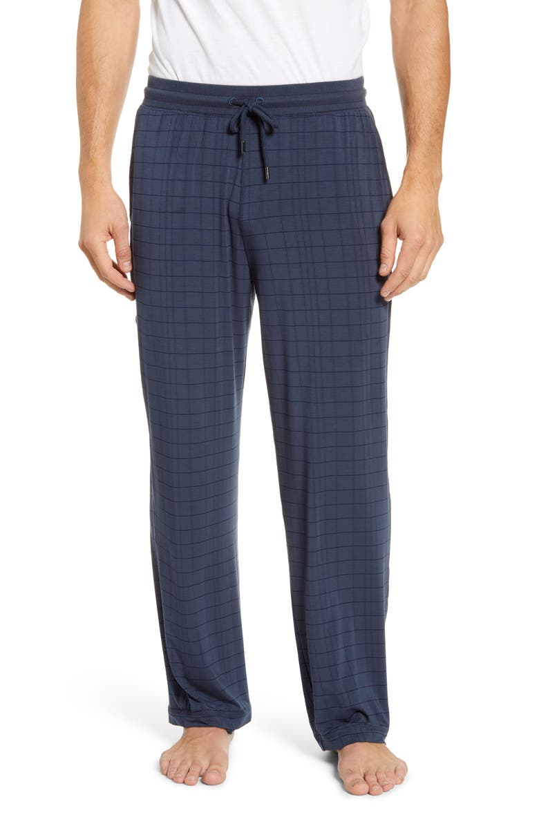 DANIEL BUCHLER Stretch Pajama Pants, Main, color, PRUSSIAN BLUE
