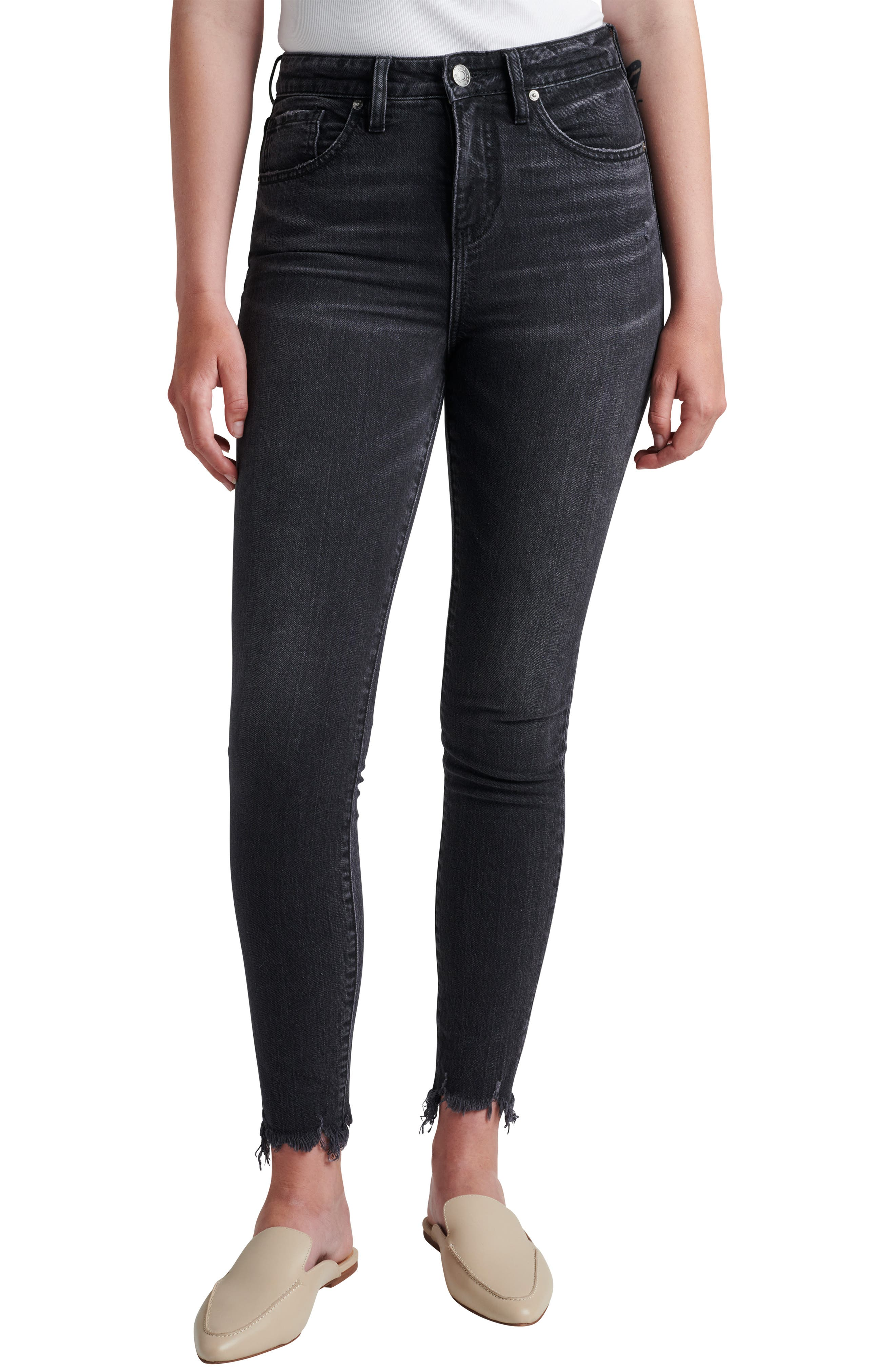 Viola High Waist Chew Hem Skinny Jeans