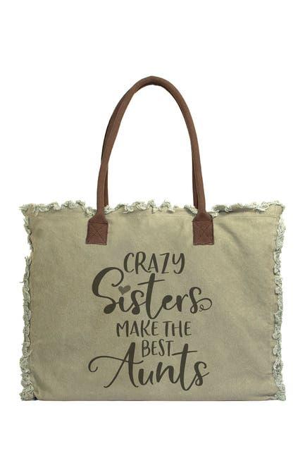 Image of Vintage Addiction Crazy Sisters Make The Best Aunts Canvas Tote Bag