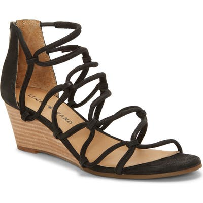 Lucky Brand Jilses Wedge Sandal, Black