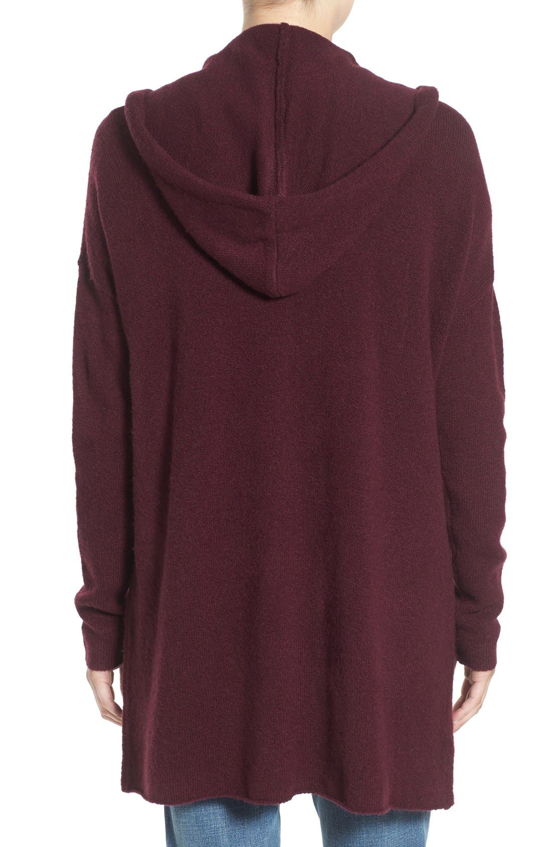 ,                             Hooded Longline Cardigan,                             Alternate thumbnail 15, color,                             930