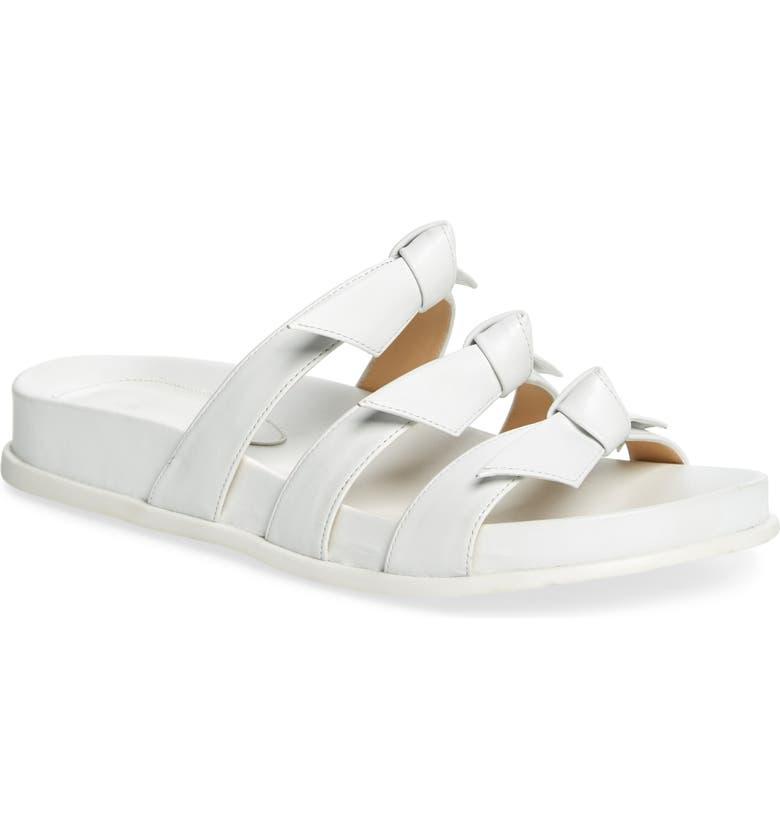 ALEXANDRE BIRMAN Lolita Bow Slide Sandal, Main, color, WHITE