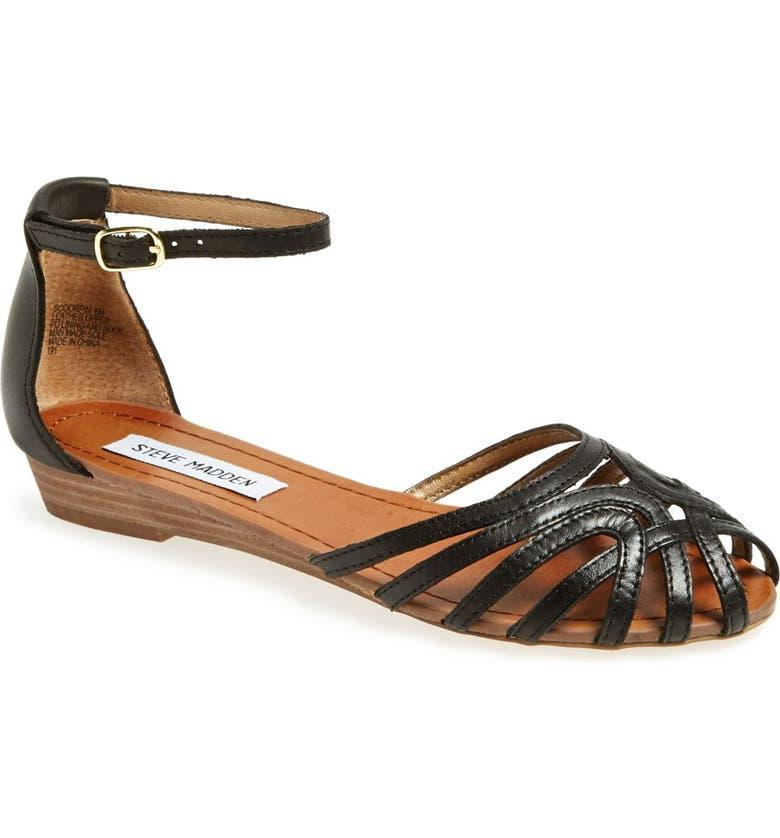 STEVE MADDEN 'Scoorpin' Sandal, Main, color, 001